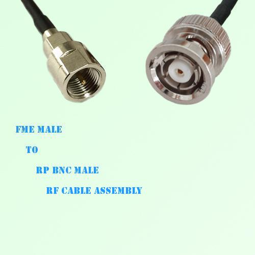 FME Male to RP BNC Male RF Cable Assembly