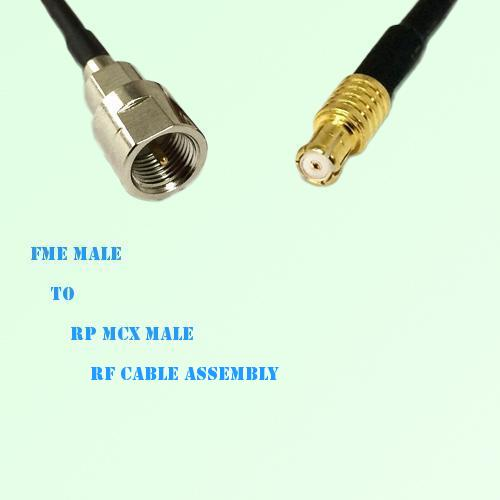 FME Male to RP MCX Male RF Cable Assembly