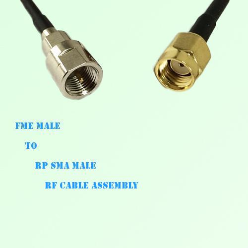 FME Male to RP SMA Male RF Cable Assembly