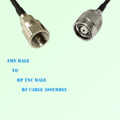 FME Male to RP TNC Male RF Cable Assembly