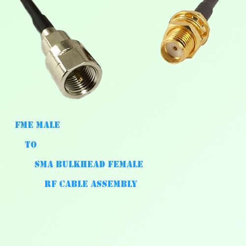FME Male to SMA Bulkhead Female RF Cable Assembly