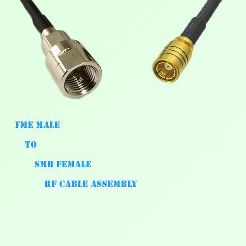 FME Male to SMB Female RF Cable Assembly