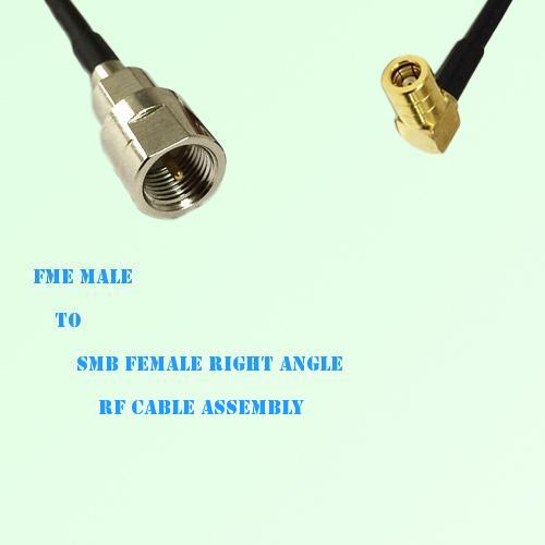 FME Male to SMB Female Right Angle RF Cable Assembly