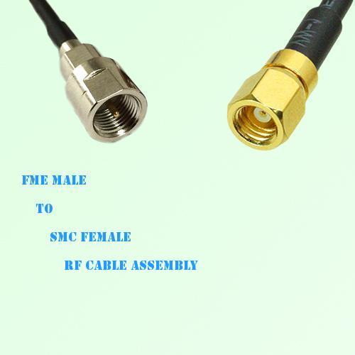 FME Male to SMC Female RF Cable Assembly