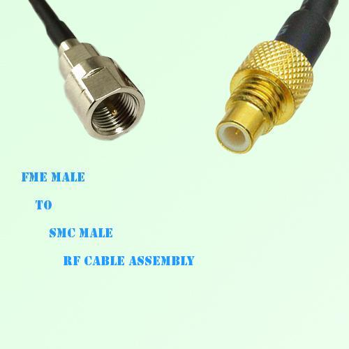 FME Male to SMC Male RF Cable Assembly