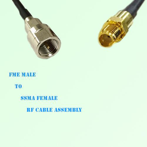 FME Male to SSMA Female RF Cable Assembly
