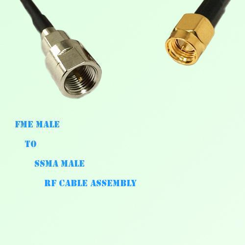 FME Male to SSMA Male RF Cable Assembly
