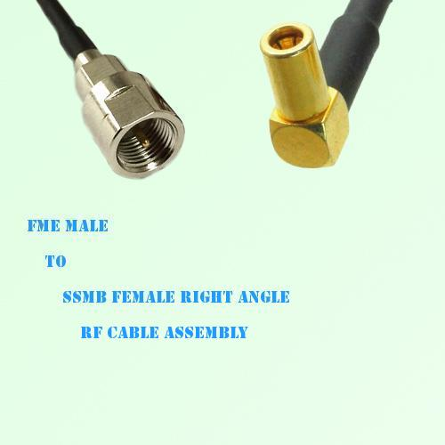 FME Male to SSMB Female Right Angle RF Cable Assembly
