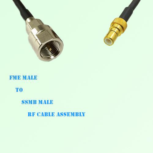 FME Male to SSMB Male RF Cable Assembly