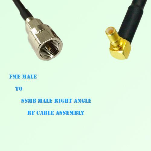 FME Male to SSMB Male Right Angle RF Cable Assembly