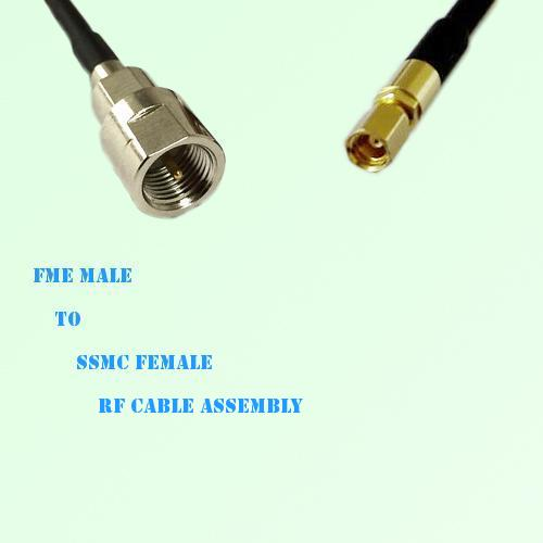FME Male to SSMC Female RF Cable Assembly