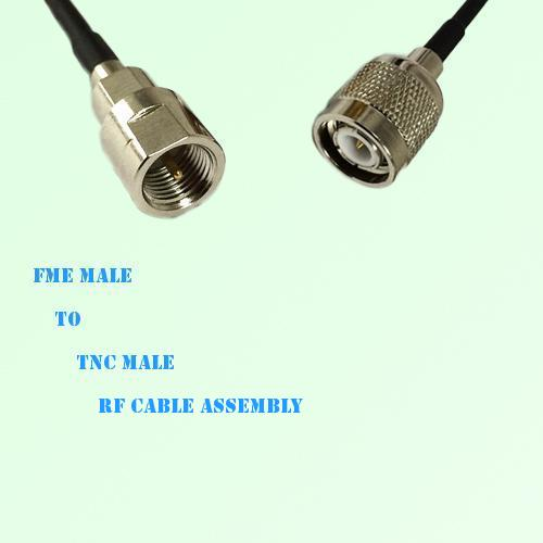 FME Male to TNC Male RF Cable Assembly
