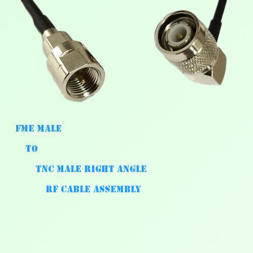 FME Male to TNC Male Right Angle RF Cable Assembly
