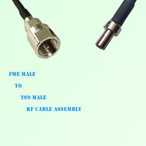 FME Male to TS9 Male RF Cable Assembly