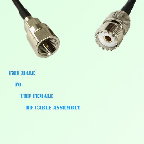 FME Male to UHF Female RF Cable Assembly