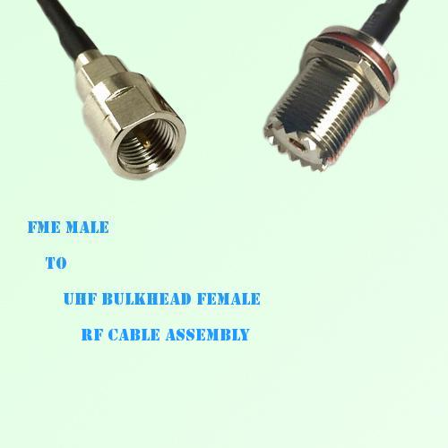 FME Male to UHF Bulkhead Female RF Cable Assembly