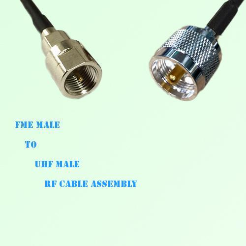 FME Male to UHF Male RF Cable Assembly