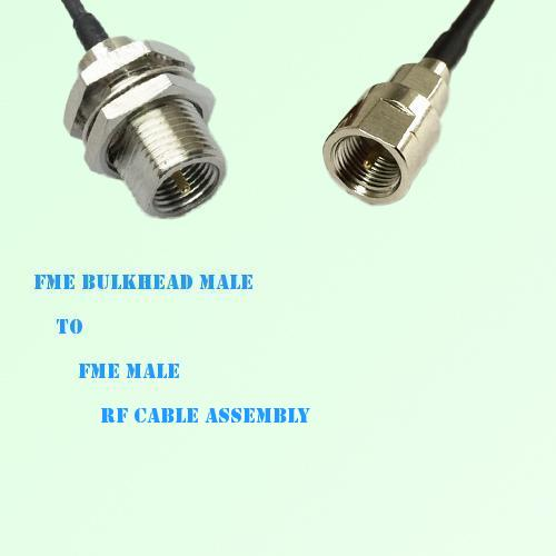 FME Bulkhead Male to FME Male RF Cable Assembly