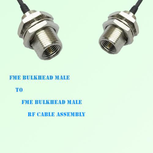 FME Bulkhead Male to FME Bulkhead Male RF Cable Assembly