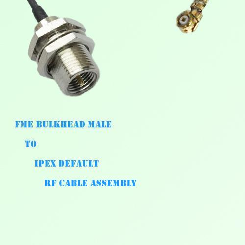 FME Bulkhead Male to IPEX RF Cable Assembly