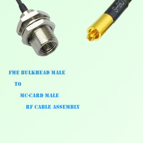 FME Bulkhead Male to MC-Card Male RF Cable Assembly