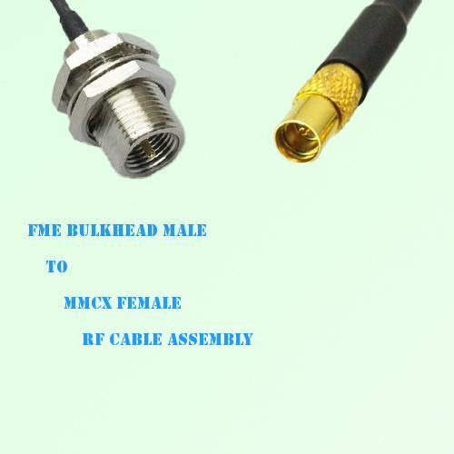 FME Bulkhead Male to MMCX Female RF Cable Assembly
