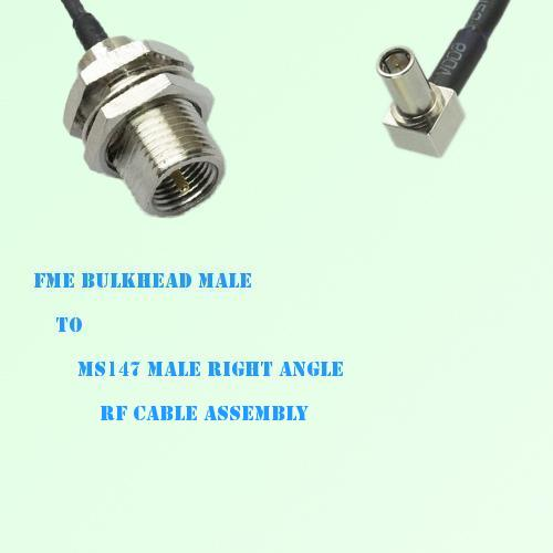 FME Bulkhead Male to MS147 Male Right Angle RF Cable Assembly