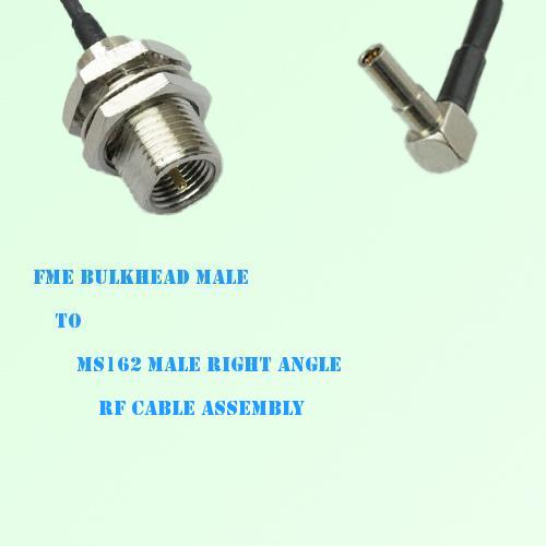 FME Bulkhead Male to MS162 Male Right Angle RF Cable Assembly