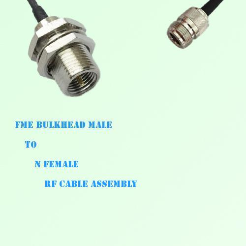 FME Bulkhead Male to N Female RF Cable Assembly
