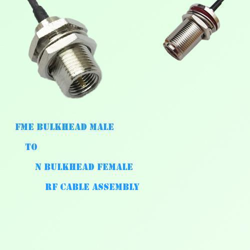FME Bulkhead Male to N Bulkhead Female RF Cable Assembly