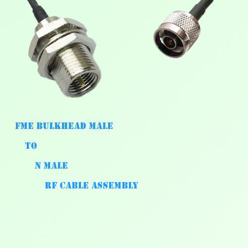 FME Bulkhead Male to N Male RF Cable Assembly