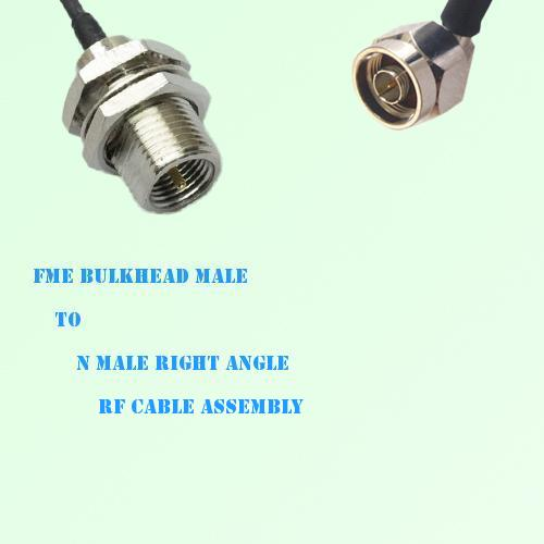 FME Bulkhead Male to N Male Right Angle RF Cable Assembly