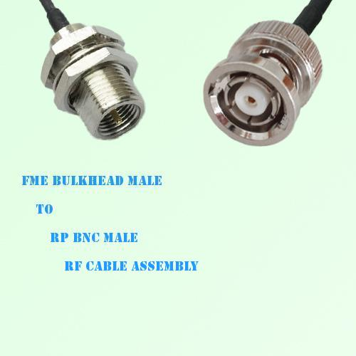 FME Bulkhead Male to RP BNC Male RF Cable Assembly