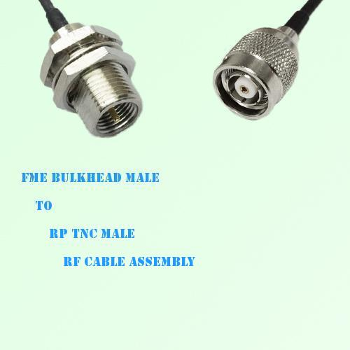 FME Bulkhead Male to RP TNC Male RF Cable Assembly