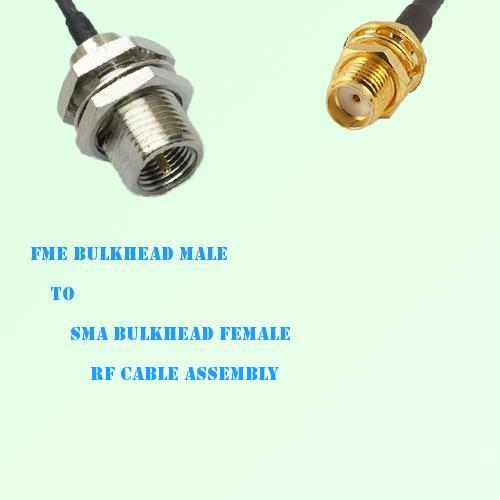 FME Bulkhead Male to SMA Bulkhead Female RF Cable Assembly