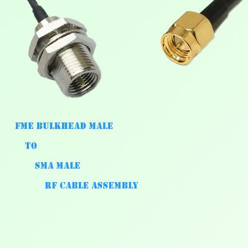 FME Bulkhead Male to SMA Male RF Cable Assembly