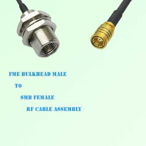 FME Bulkhead Male to SMB Female RF Cable Assembly