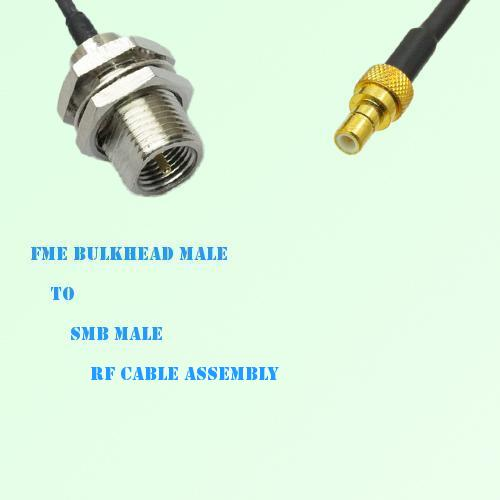 FME Bulkhead Male to SMB Male RF Cable Assembly