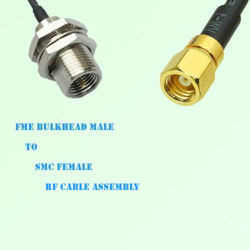 FME Bulkhead Male to SMC Female RF Cable Assembly