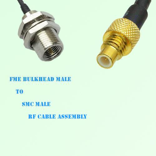 FME Bulkhead Male to SMC Male RF Cable Assembly