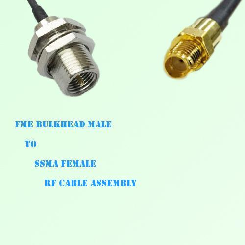 FME Bulkhead Male to SSMA Female RF Cable Assembly