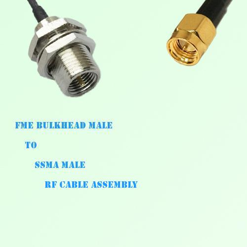 FME Bulkhead Male to SSMA Male RF Cable Assembly