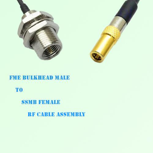 FME Bulkhead Male to SSMB Female RF Cable Assembly