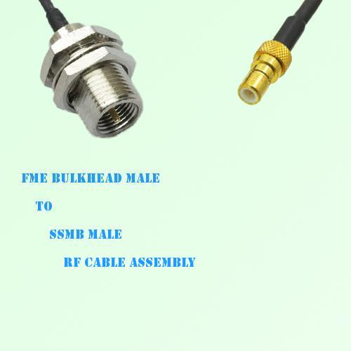 FME Bulkhead Male to SSMB Male RF Cable Assembly