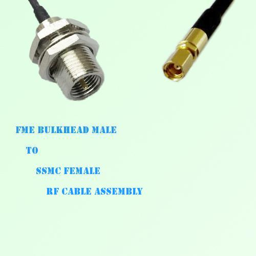 FME Bulkhead Male to SSMC Female RF Cable Assembly