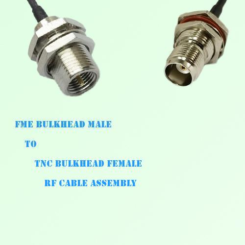 FME Bulkhead Male to TNC Bulkhead Female RF Cable Assembly