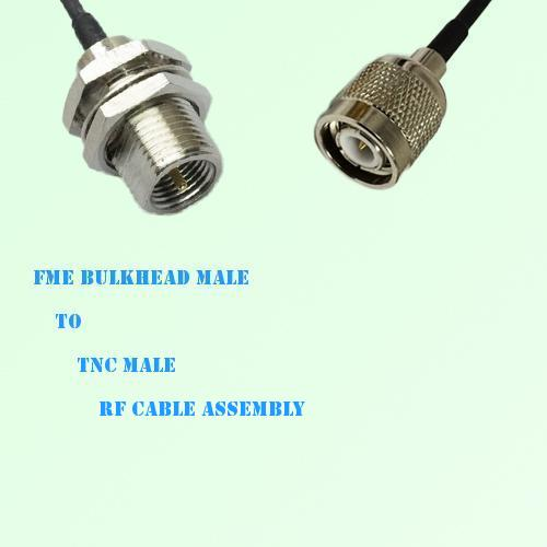 FME Bulkhead Male to TNC Male RF Cable Assembly