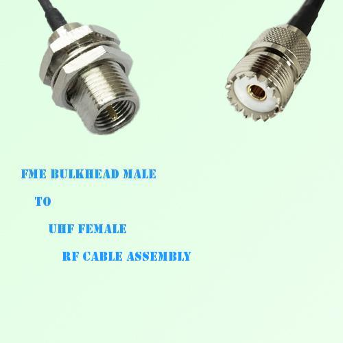 FME Bulkhead Male to UHF Female RF Cable Assembly