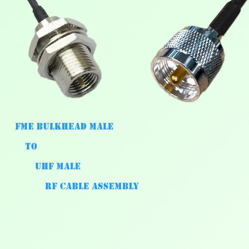 FME Bulkhead Male to UHF Male RF Cable Assembly
