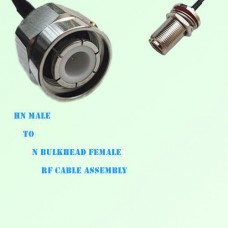 HN Male to N Bulkhead Female RF Cable Assembly